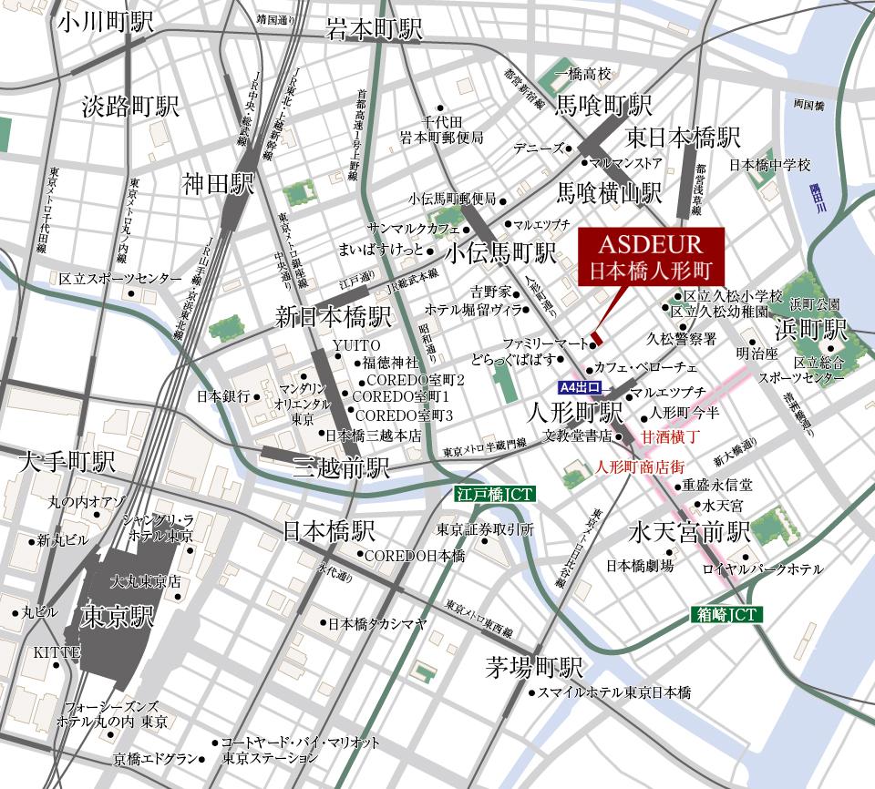 ASDEUR 日本橋人形町(アスデュール 日本橋人形町):案内図