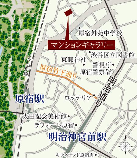 ドゥアージュ コラッド 松濤:モデルルーム地図