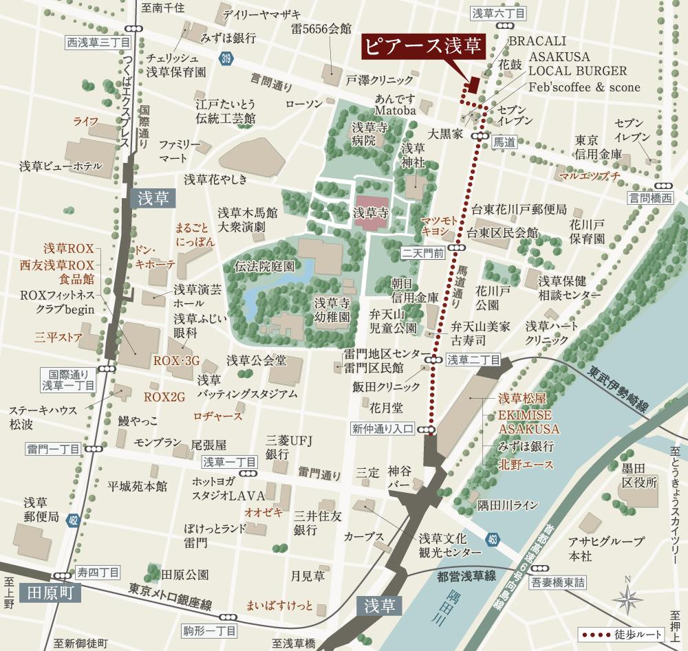 ピアース浅草:案内図