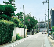 現地周辺の街並み 約30m(徒歩1分)
