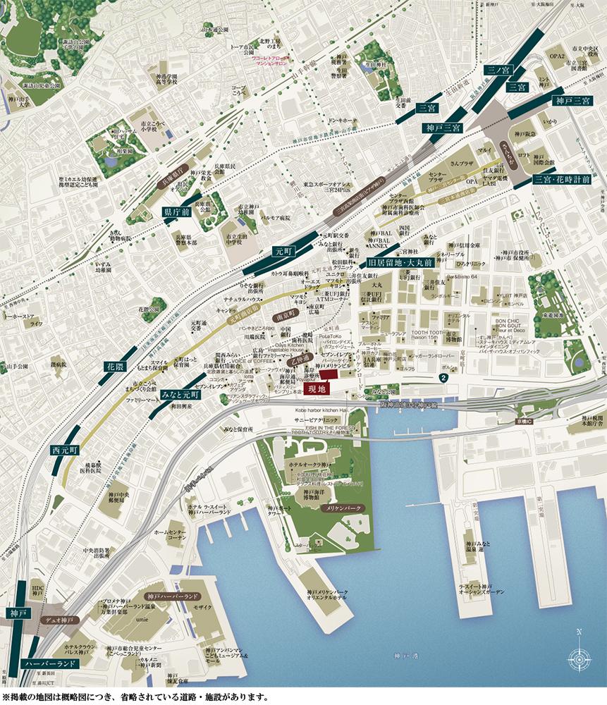 ワコーレ ザ・神戸旧居留地レジデンスタワー:案内図