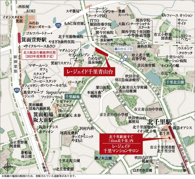 レ・ジェイド千里青山台:案内図