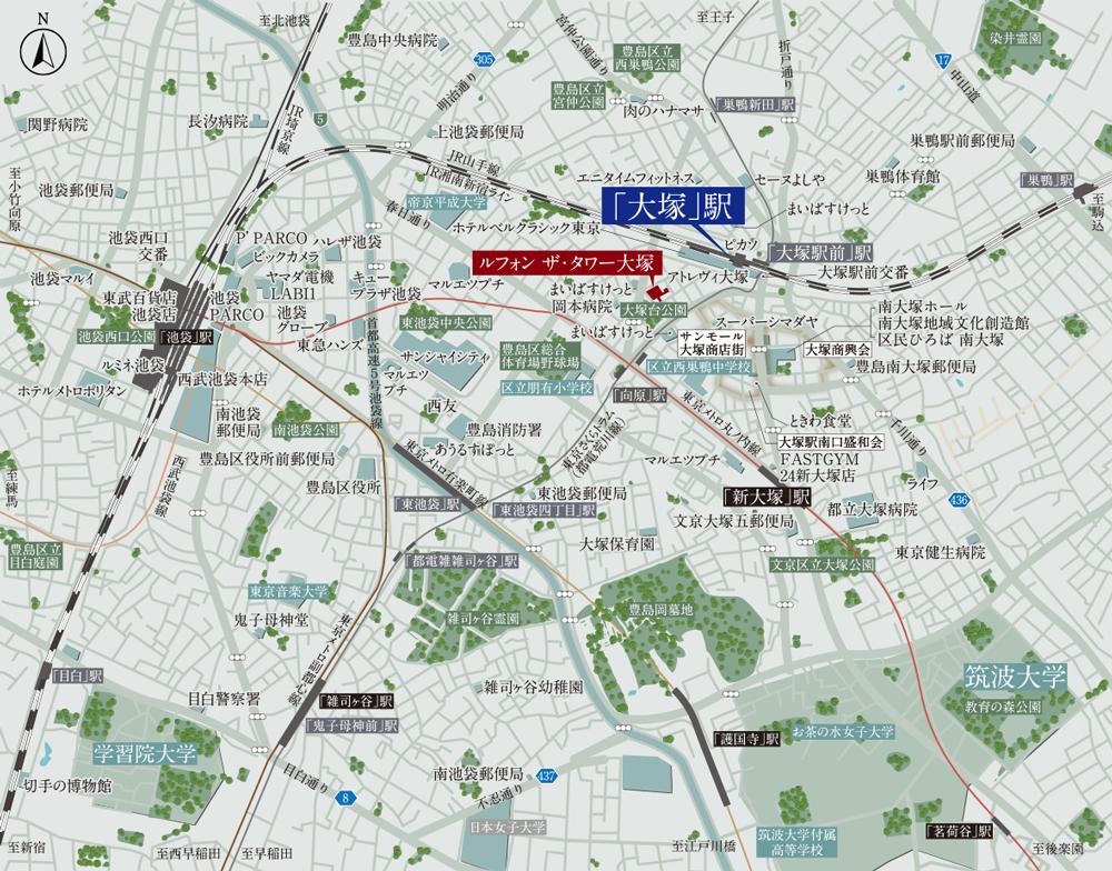 ルフォン ザ・タワー大塚:案内図