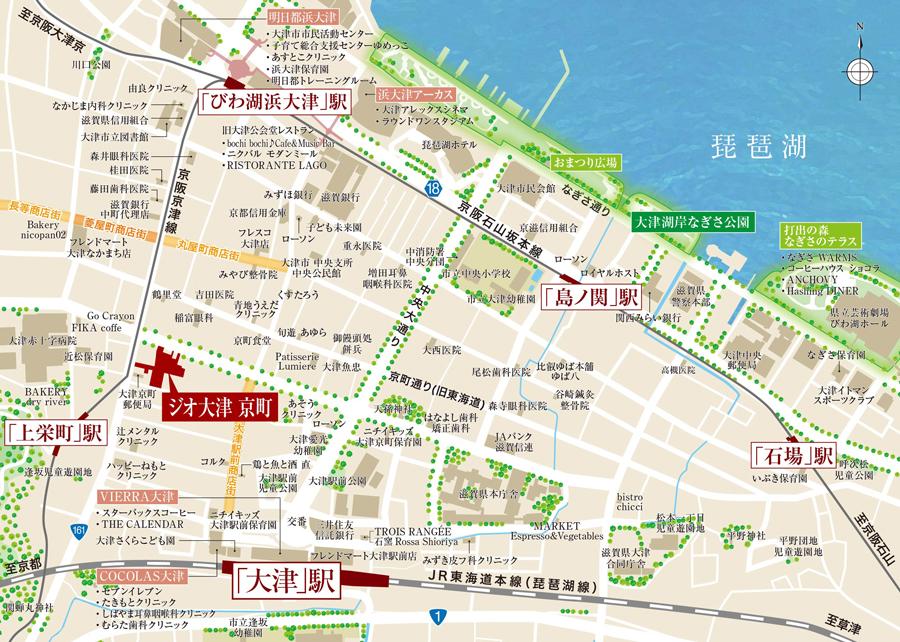 ジオ大津 京町:案内図