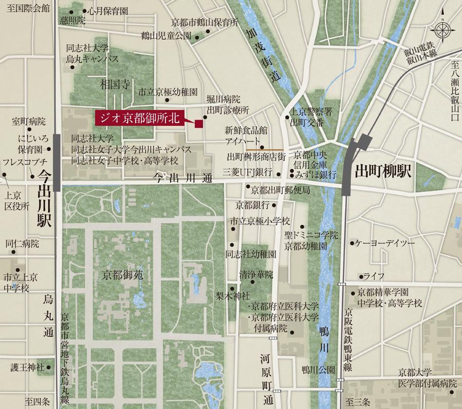ジオ京都御所北:案内図