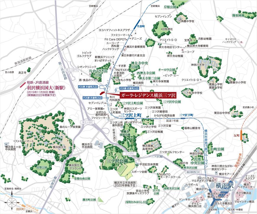 ガーラ・レジデンス横浜三ツ沢:案内図