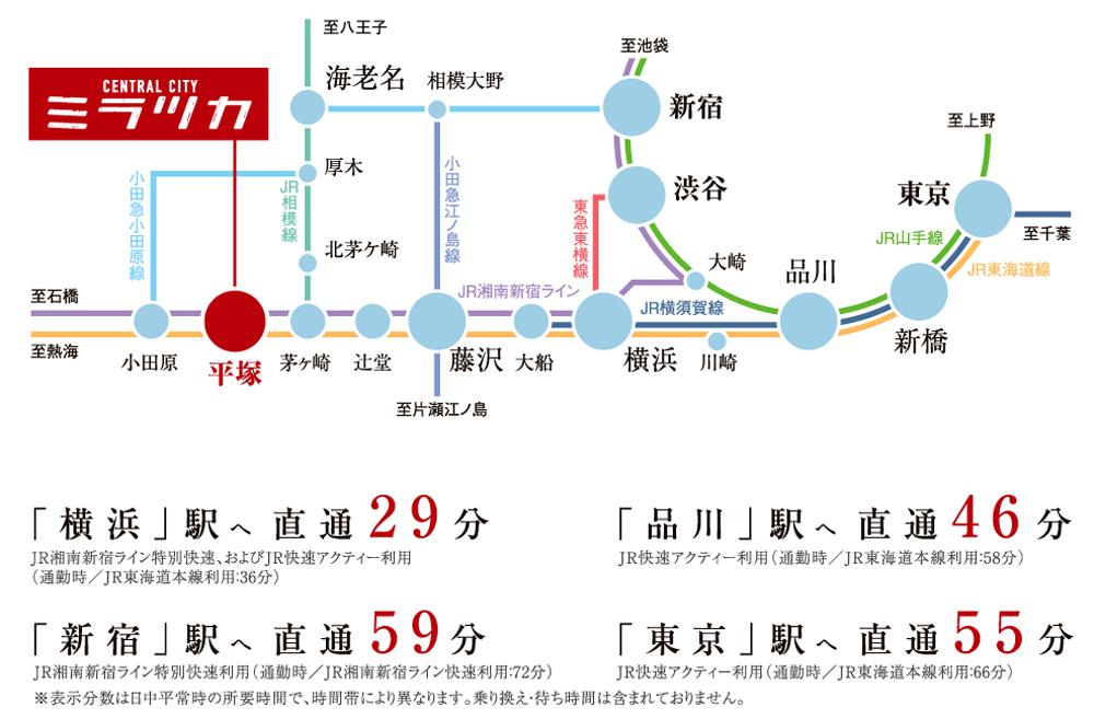 ローレルスクエア湘南平塚(ミラツカプロジェクト):交通図