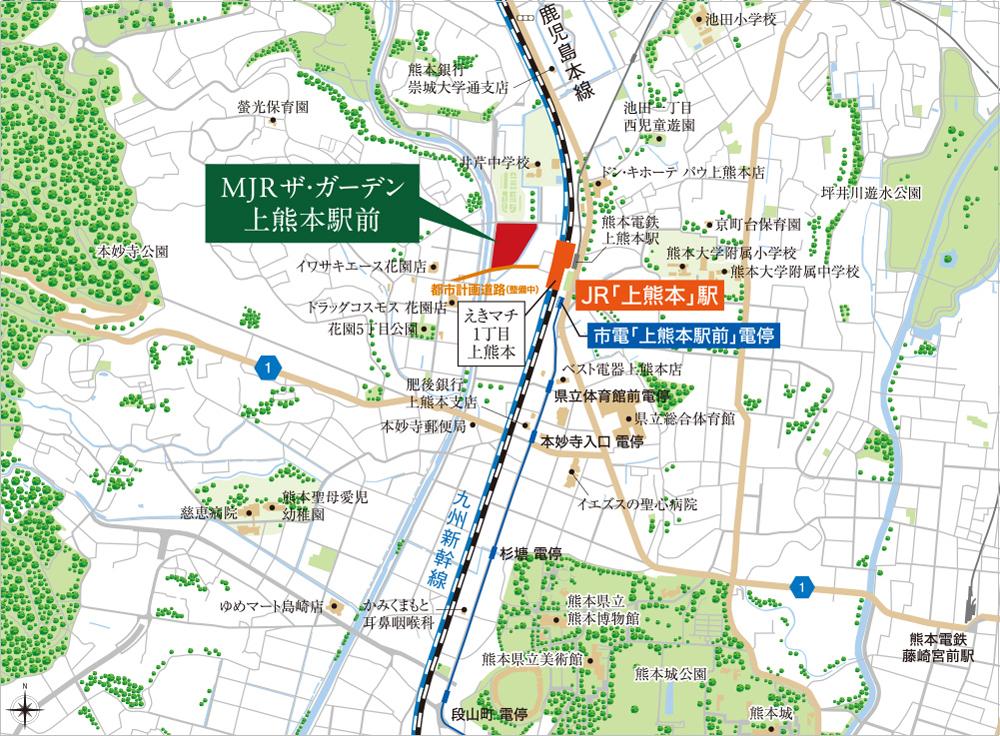 MJRザ・ガーデン上熊本駅前:案内図