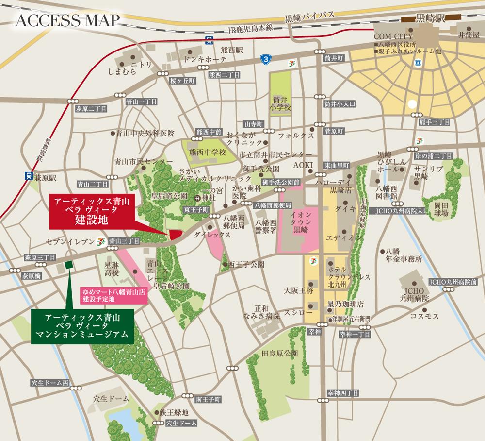 アーティックス青山 ベラ ヴィータ:モデルルーム地図