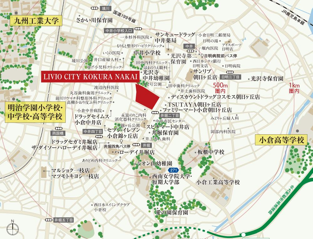 リビオシティ小倉中井イーストコート:案内図