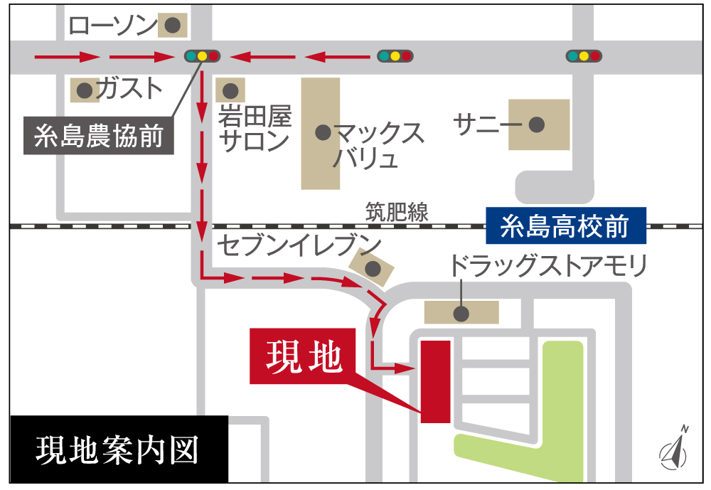 アーバンパレス伊都の杜:モデルルーム地図