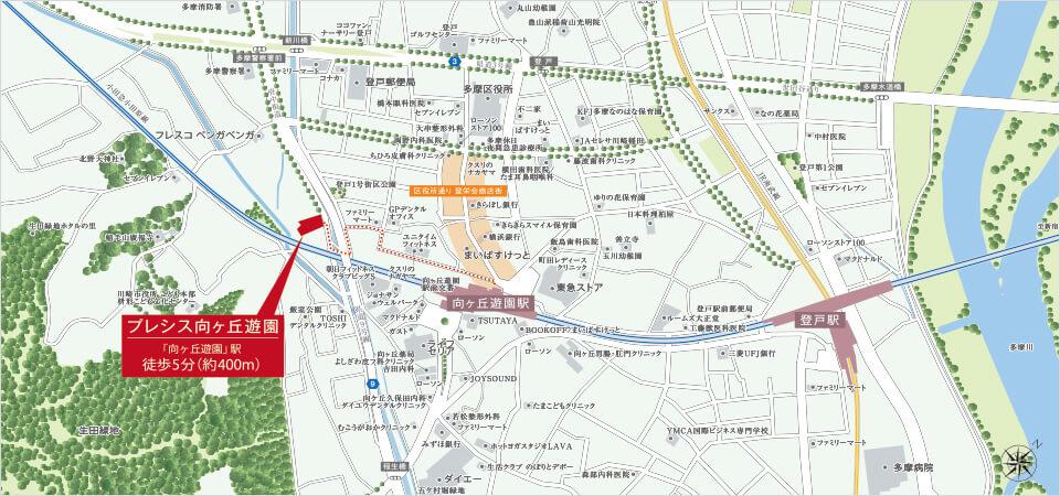 プレシス向ヶ丘遊園:案内図