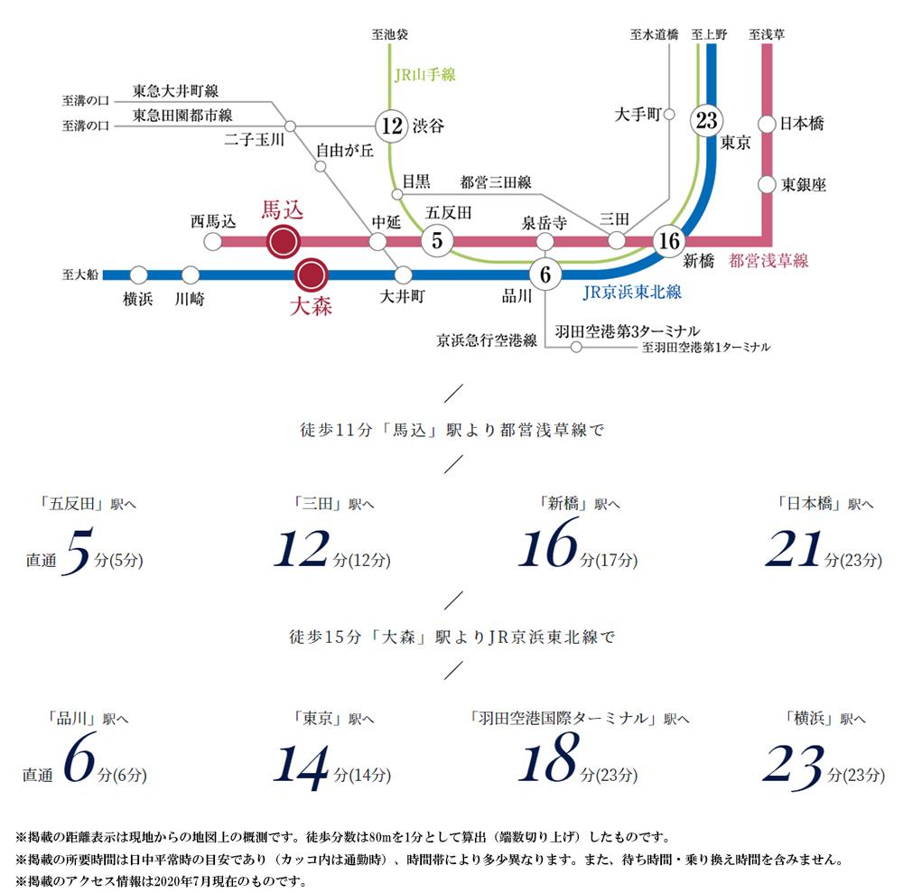 ジオ馬込:交通図