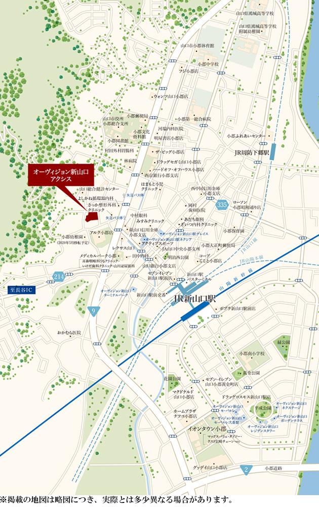 オーヴィジョン新山口アクシス:案内図