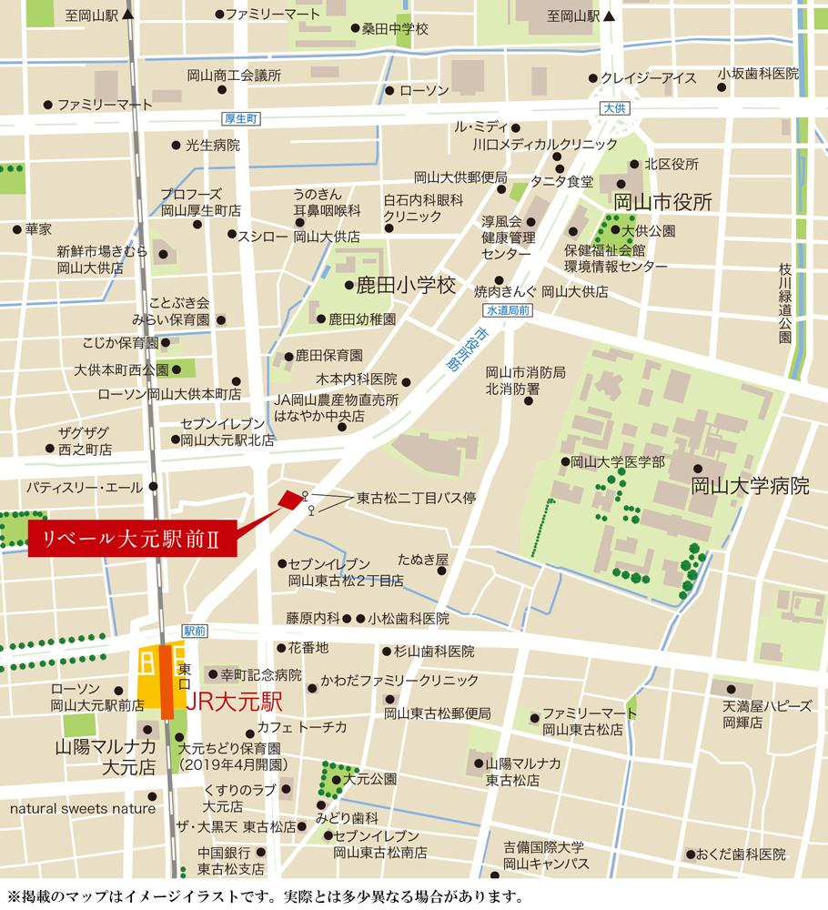 リベール大元駅前II:案内図