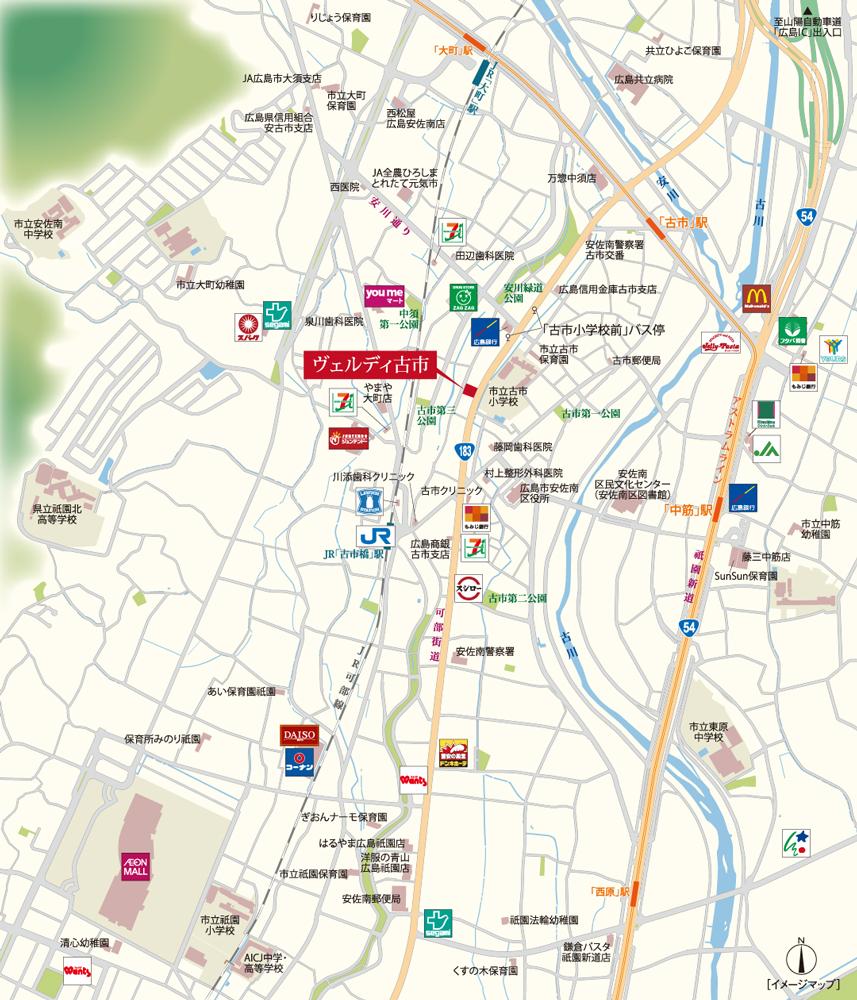 ヴェルディ古市:案内図