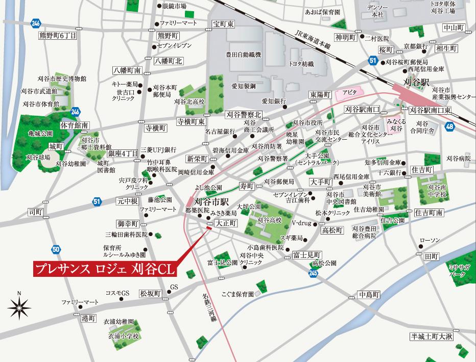 プレサンス ロジェ 刈谷CL:案内図