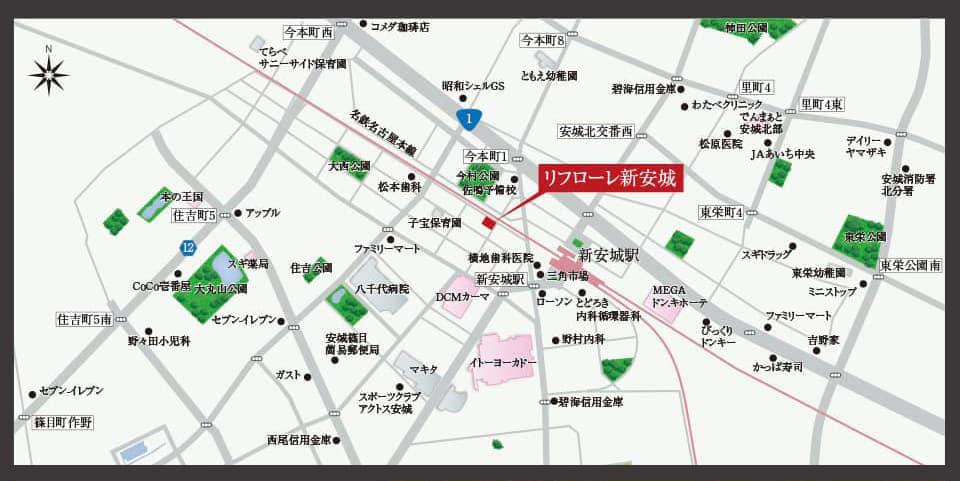 リフローレ新安城:案内図