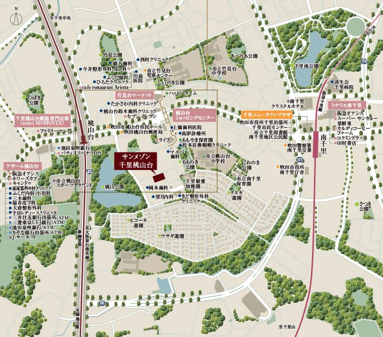 サンメゾン千里桃山台:案内図