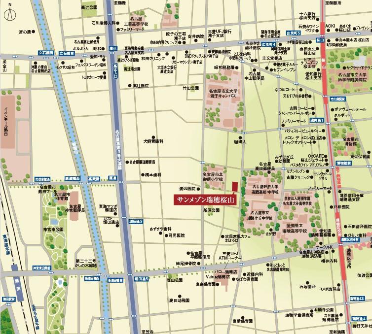 サンメゾン瑞穂桜山:モデルルーム地図