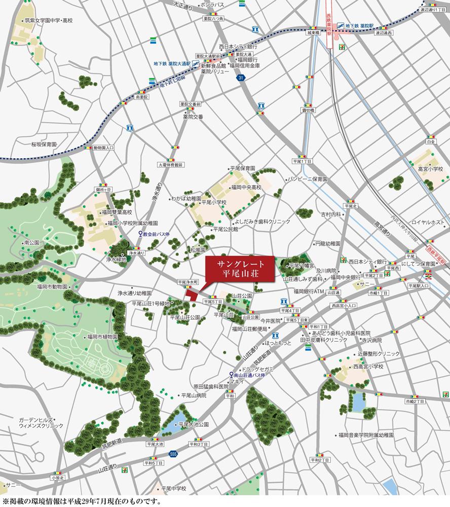 サングレート平尾山荘:案内図