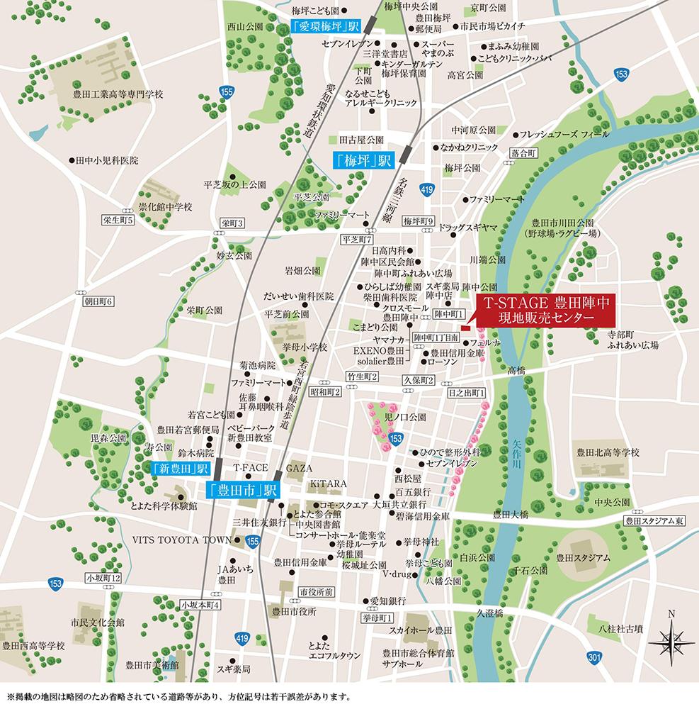 T-STAGE豊田陣中:モデルルーム地図