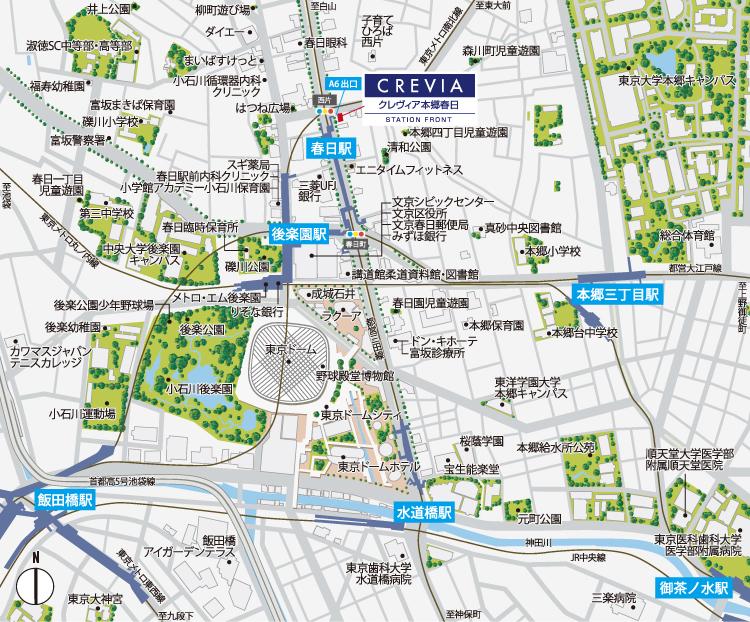 クレヴィア本郷春日ステーションフロント:モデルルーム地図