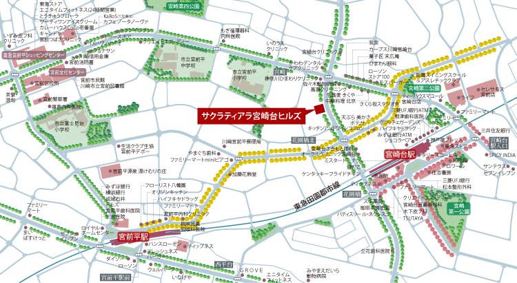 サクラティアラ宮崎台ヒルズ【第1期先着順】:案内図