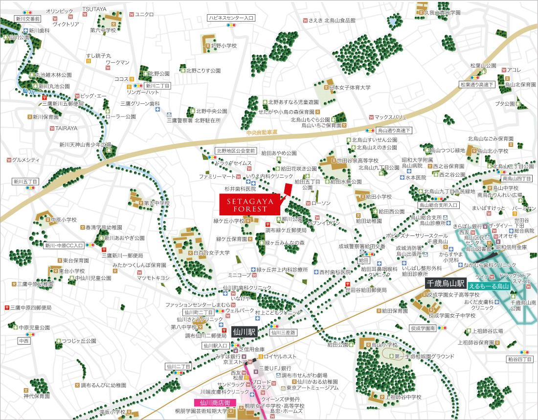 (仮称)SETAGAYA FOREST(世田谷フォレスト):案内図