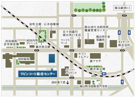 リビンコートプライム津島:モデルルーム地図