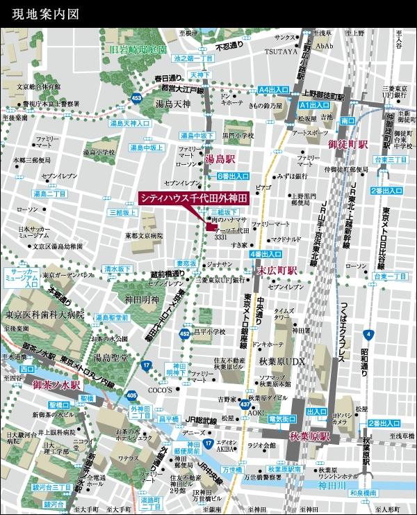 シティハウス千代田外神田:案内図