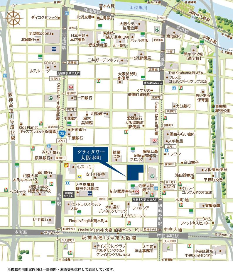 シティタワー大阪本町:案内図