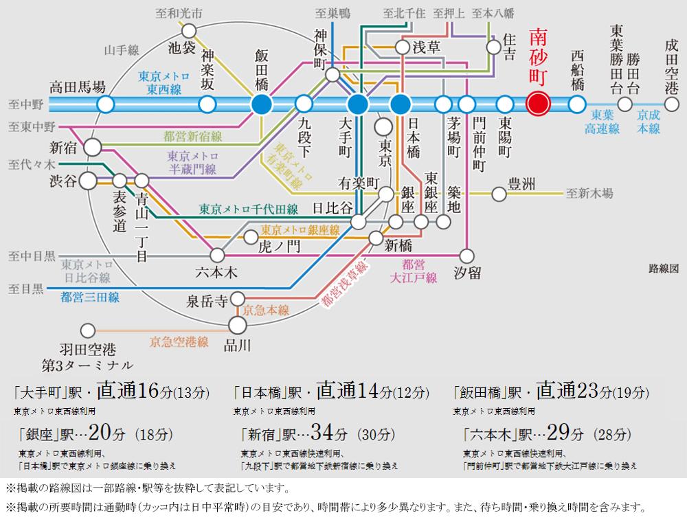 ジオ南砂町:交通図
