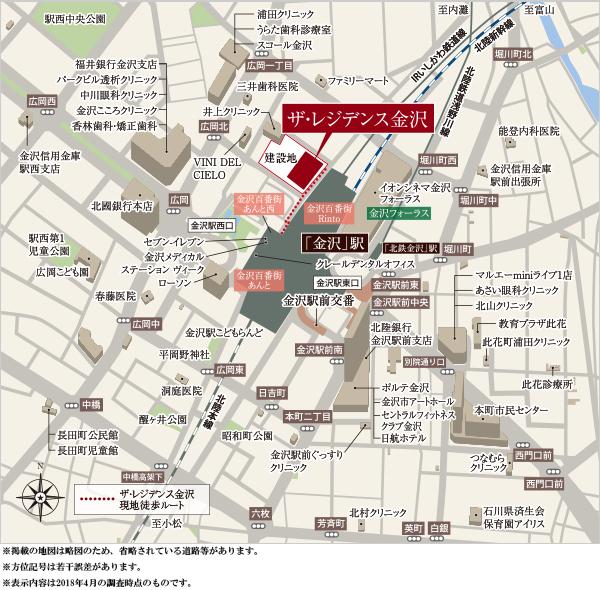 ザ・レジデンス金沢:案内図