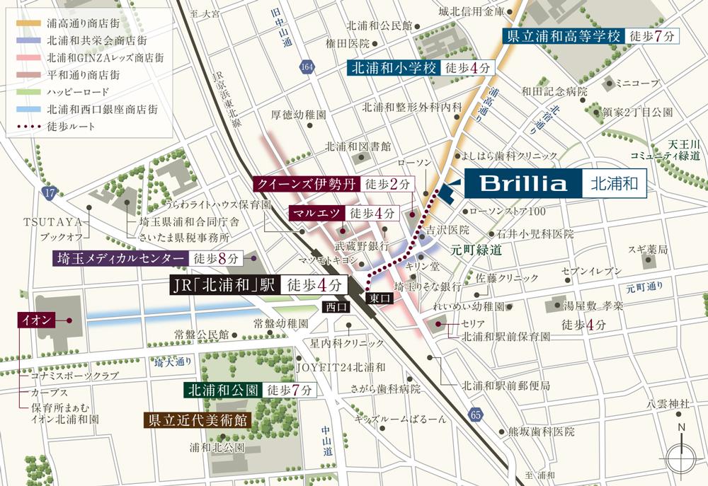 Brillia 北浦和:案内図