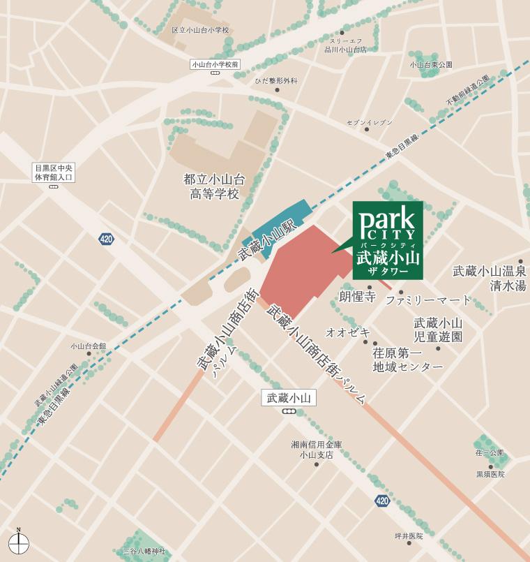 パークシティ武蔵小山 ザ タワー:案内図