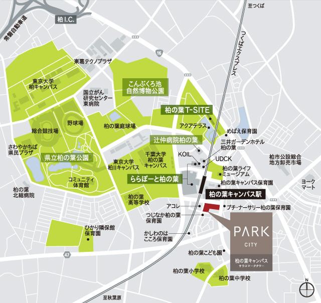 パークシティ柏の葉キャンパス サウスマークタワー:案内図