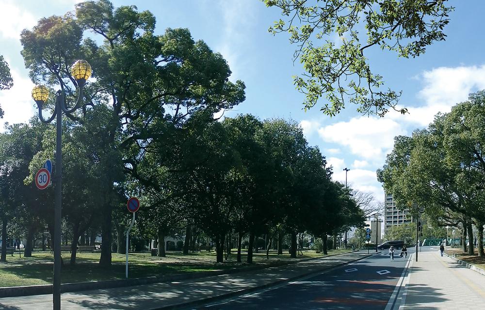 広島平和公園 約200m