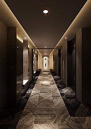 エレベーターホール(15階)完成予想CG