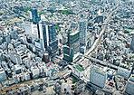 渋谷へ直通6分/JR渋谷駅(約3,710m)※距離表示は現地からの地図上の概測距離です。※掲載の航空写真は2018年4月に撮影したものです。