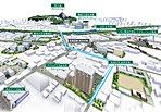 熊本市中心街まで約1.2km