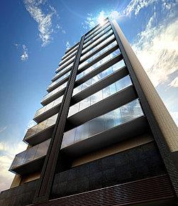 現地周辺空撮写真 ※掲載の現地周辺空撮写真は2017年11月に撮影したものに、光等CG処理を加えたもので、実際とは異なります。現地の位置を表現した光は建物の高さや規模を示すものではありません。