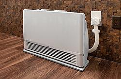 温水の熱で空気を汚さずにお部屋をすばやく暖める、ファンコンベクター※を取り付けられる温水コンセントを標準装備しました。※ファンコンベクターはオプション仕様です。※参考写真