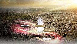 (仮称)倉敷市阿知3丁目再開発マンションプロジェクトの外観