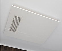 乾燥・暖房・涼風などの機能を備えた浴室換気乾燥暖房機。雨の日の洗濯物の乾燥等にも重宝します。
