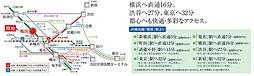 グリーンTOWN鴨居・池辺(建築条件付):交通図