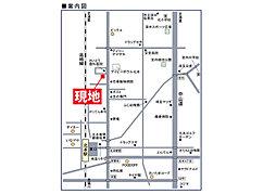 北本市東間3丁目 売地:案内図