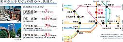 コモンガーデン市川南大野(不動産フェア会場)【建築条件付土地】:交通図