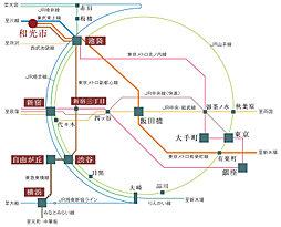 【土地30坪以上】和光市下新倉2丁目・第4期・あと1区画となりました。:交通図