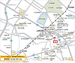 プレミアムコンフォート上野芝向ヶ丘町:案内図